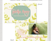 Tropical Indie - Horizontal Business Card or Mommy 411 Card PSD Template Design INSTANT DOWNLOAD