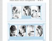 Blue Wave - 20x10 Story Board Panel Boy PSD PHOTOSHOP Template Design