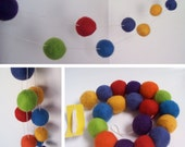 You choose your colours Felt ball garland
