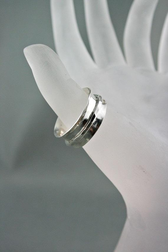 Worry Ring - Handmade Argentium Silver
