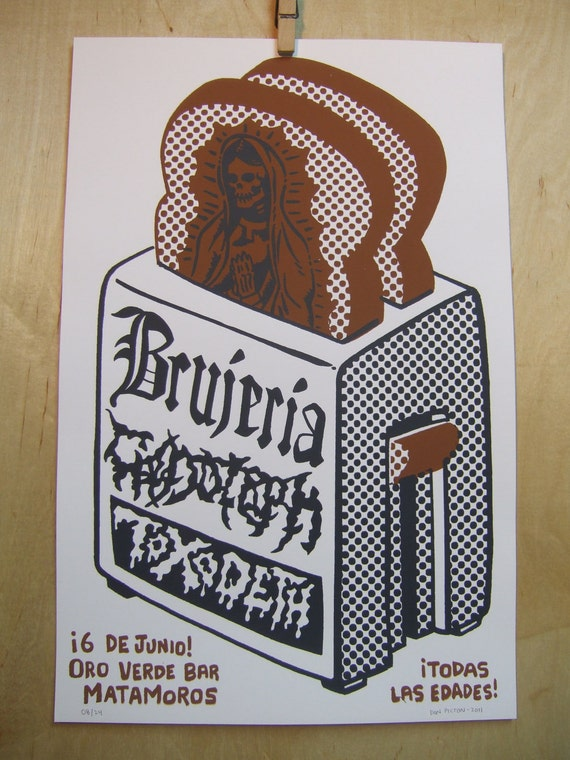 Viva Mexican death metal- hand pulled screen print