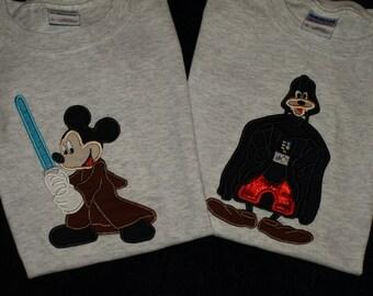 Mister Mouse Luke G00fy as Darth Vader  Good vs Evil shirts pack