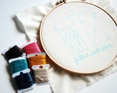 Filled with Love Thermos-Inspired Embroidery Project Kit