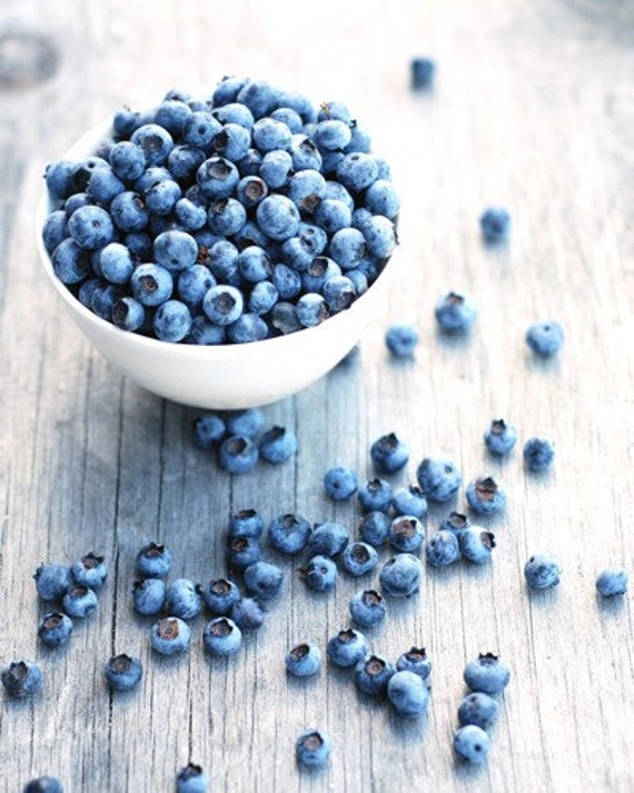 Kitchen Art 8x10 Fine Art Photo Print - FREE SHIPPING Home-Grown Blueberries