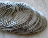 50 loops 5.5cm bracelet memory wire in silver