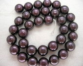 12mm Purple South Sea Shell Pearl Beads - 16 Inch Strand