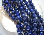 16 Inch Strand Lapis Lazuli Round Beads 8mm