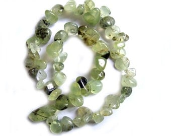 Beautiful Full 16 Inch Strand Prehnite Smooth Nuggets