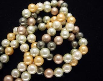 Beautiful Multicolor South Sea Shell Pearl Strand 8mm