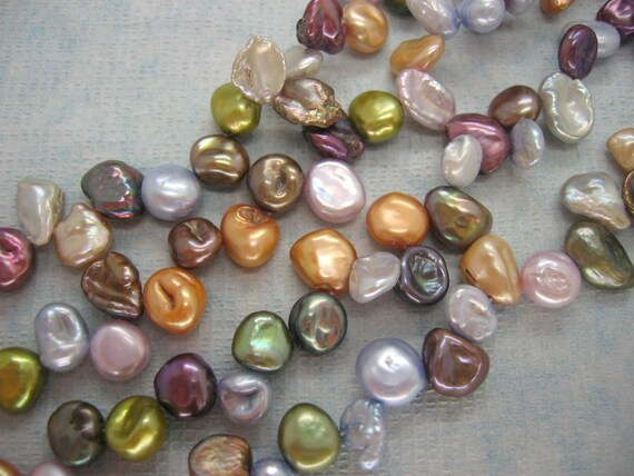 Full Strand Lustrous Multicolor Keishi Baroque Freshwater Pearl Beads