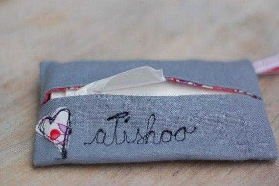 Handmade Linen & Liberty Print Tissue Case Holder
