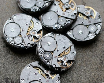 Vintage watch movements -- identical -- set of 6 -- D5