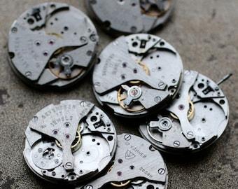 Vintage Watch Movements -- set of 6 -- D5