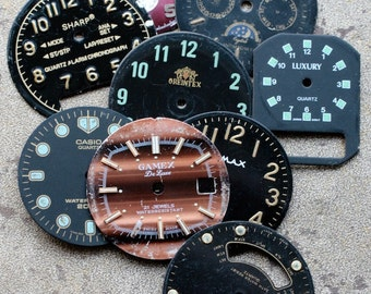 Wrist Watch Faces -- set of 9 -- D1