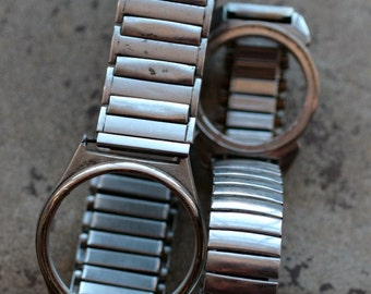 Wrist watch bracelets with empty cases -- stretch -- D5