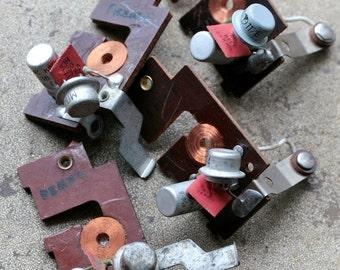 Large vintage clock parts -- set of 4 -- D12