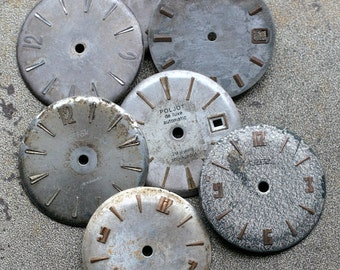 Vintage Watch Faces -- set of 7 -- D11
