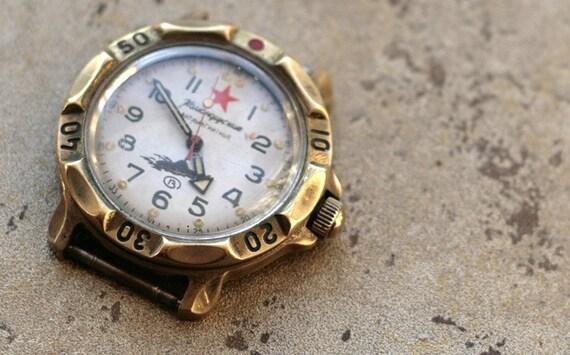 Vintage Soviet Watch -- VOSTOK KOMANDIRSKIE  -- AMPHIBIAN
