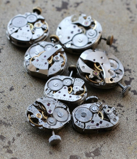 Vintage Womens Watch Movements -- set of 7