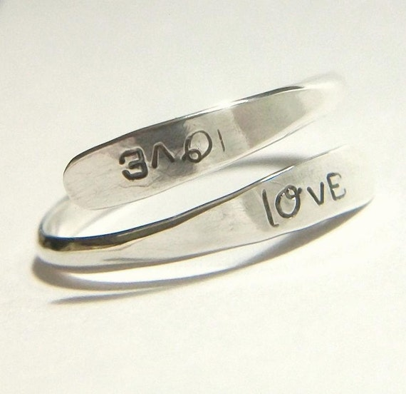 Little Silver Love Wrap Friendship Promise Ring