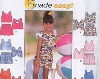 Simplicity Pattern 7666 Girls Summer Outfits FREE SHIPPING