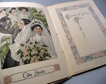 Antique Wedding book Ivory Soap vintage advertising Elizabeth Harding, Bride house keeping guide 1900's domestic instructions ephemera
