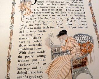 WEDDING - ANTIQUE - IVORY Soap vintage advertising - Elizabeth Harding, Bride - house keeping guide - 1900