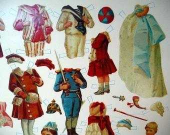 PAPER DOLL - antique - exact REPLICA of museum collection - late 1800's