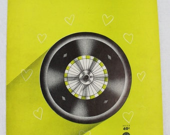 SHEET MUSIC - Wheel of Fortune - LIME green - Bennie Benjamin and George Weiss - Laurel Music - copyright 1952 - great for framing
