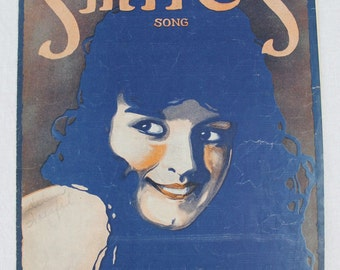 SHEET MUSIC - SMILES Song - great for framing - copyright 1917 - J Will Callahan - Lee S Roberts