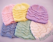 Baby's Wave - Handknitted hat in your color choice