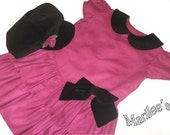Hot Pink Dress and Hat Set - girls size 4 - FREE SHIPPING within USA