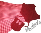 Red  Dress and Purse Set - Girls size 8 - FREE SHIPPING within USA