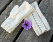 Real Cashmere Fingerless Gloves