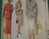 Vintage two piece suit pattern McCall's 8218