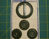 Vintage Streamline button and buckle set