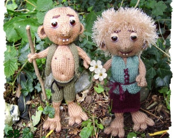Gugalan & Gwendolen Garden Gnomes  pair of whacky little characters :  Pattern only IMMEDIATE DOWNLOAD