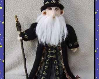 Twigstaff The Wizard 14 inches high  :   Pattern only IMMEDIATE DOWNLOAD