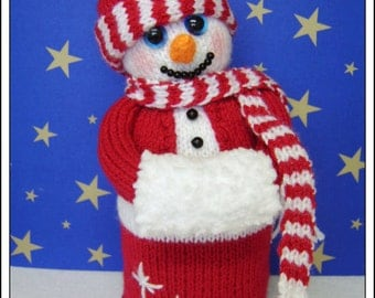 Snuggles the snowman   :   Pattern only IMMEDIATE DOWNLOAD