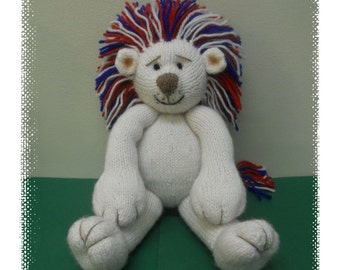 Perry the patriotic lion  :  Pattern only IMMEDIATE DOWNLOAD