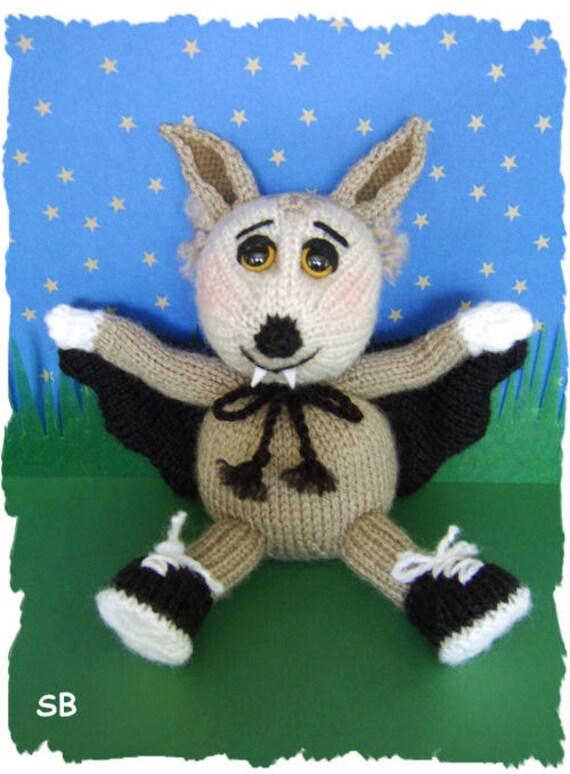 Bellamy Bat   cute halloween  toy     :   Pattern only IMMEDIATE DOWNLOAD