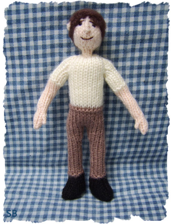Knitting Pattern Guy : Basic man doll : Pattern only IMMEDIATE DOWNLOAD