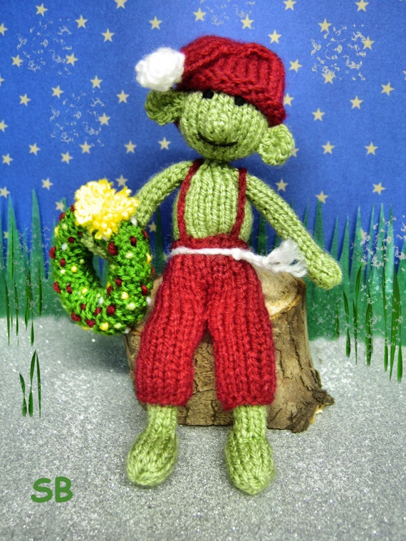 Knitted Elf Pattern : Santas Elf Knitting pattern only : Pattern only
