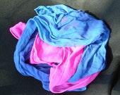 Two Silk Chiffon hemmed scarves, ready to wear or make nuno felt