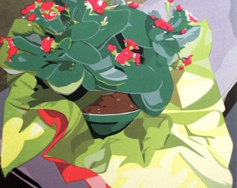 Kalanchoe, limited edition serigraph