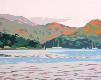 Along the Turkish Coast, limited edition serigraph