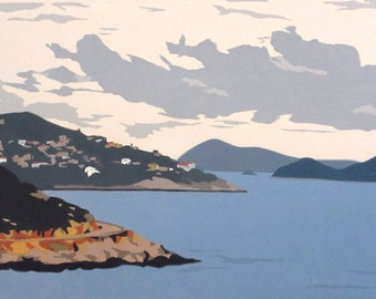 Along the Turkish Coast II, limited edition serigraph