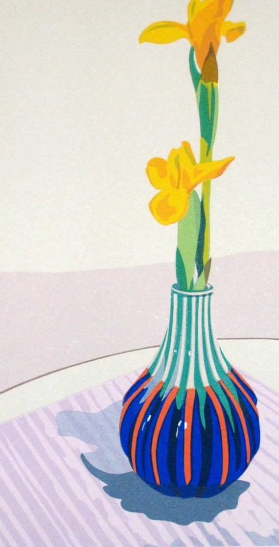 Yellow Irises, limited edition serigraph