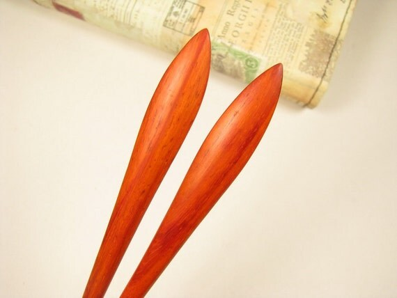 A Pair of Swartizia Wood Hair Stick