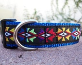 "Sale Dog Collar 1"" wide Side release buckle Sunburst  adjustable - martingale collar style is cost upgrade"